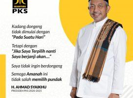 Hasil Musyawarah Majelis Syura, Ahmad Syaikhu Ditunjuk Jadi Presiden PKS 2020 – 2025